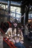 丰足节日庆祝了在Bankside的10月在莎士比亚` s地球之外在伦敦市,英国 免版税图库摄影