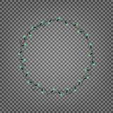 串光 现实圣诞灯诗歌选被隔绝的花圈  库存照片