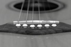 6串平台面吉他 免版税库存图片