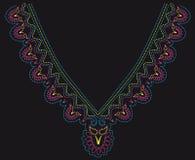 串珠的五颜六色的设计 库存例证