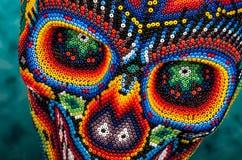 串珠的头骨眼睛 免版税库存照片