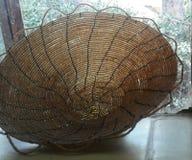 串珠的铁丝网筐 库存照片