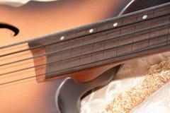 5串Fretless低音吉他 库存照片