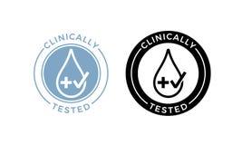 临床被测试的传染媒介下落十字架和检查象 库存例证
