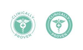 临床被证明的传染媒介医疗众神使者的手杖象 库存例证