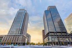 丸之内商业区在东京 免版税库存照片