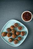 丸子和美味垂度开胃菜的 免版税库存图片
