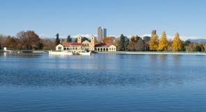 丹佛城Park湖 免版税库存图片