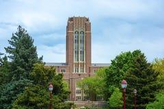 丹佛大学校园在丹佛,日间科罗拉多 免版税库存照片