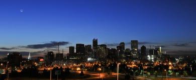 丹佛日出城市地平线 库存图片