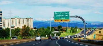 丹佛科罗拉多状态美国运输路 免版税库存照片