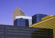 丹佛街市skyscape 免版税库存照片