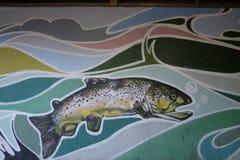 丹尼尔麦卡锡` s壁画在克罗伊登 免版税图库摄影