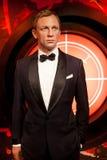 丹尼尔・克雷格蜡象当詹姆斯庞德007代理在杜莎夫人蜡象馆蜡博物馆在阿姆斯特丹,荷兰 免版税库存图片