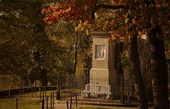 丹尼尔・布恩的坟墓,法兰克福公墓 库存图片