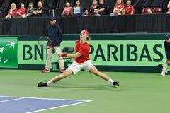 丹尼斯Shapovalov网球小轿车戴维斯 免版税库存照片