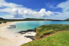 丹戎AAn海滩龙目岛印度尼西亚 免版税库存照片