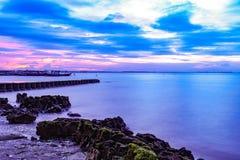 丹戎pasir海滩 库存照片