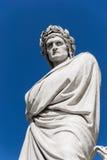 丹特的雕象在佛罗伦萨-意大利 免版税库存照片