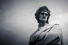丹特雕象广场二的三塔Croce,佛罗伦萨,意大利 库存图片