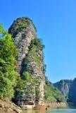 丹霞地形山在泰宁,福建,中国 库存图片