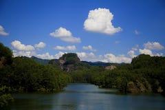 丹霞风景--Guanzhishan 库存图片