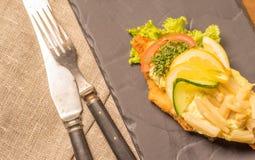丹麦专业和全国盘,优质单片三明治 免版税库存图片