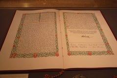 丹麦书面宪法 库存图片
