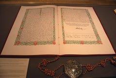 丹麦书面宪法 免版税库存照片