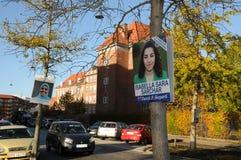 丹麦人党和国家党海报 免版税库存照片
