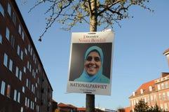 丹麦人党和国家党海报 免版税图库摄影
