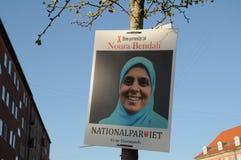 丹麦人党和国家党海报 库存照片