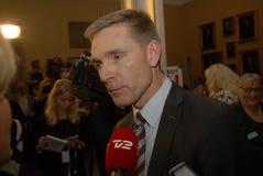 丹麦人说NO_NEJ TRO欧盟 库存照片