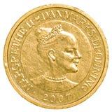 10丹麦克郎硬币 库存图片