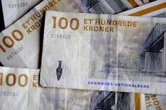 丹麦克郎货币笔记 免版税库存照片