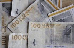丹麦克郎货币笔记 免版税库存图片