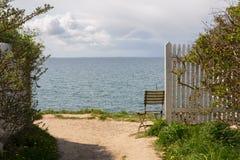 丹麦北海乡下视图/夏天在斯堪的那维亚 图库摄影