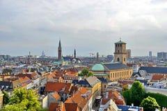 丹麦哥本哈根地平线视图 库存图片