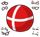 丹麦国家球 皇族释放例证