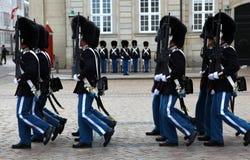 丹麦守卫皇家的生活 免版税库存图片
