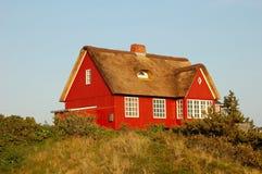 丹麦房子夏天 库存照片