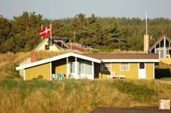 丹麦房子夏天 免版税图库摄影
