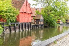 丹麦房子 库存照片