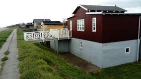 丹麦房子 免版税库存照片
