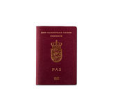 丹麦护照 库存图片