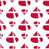丹麦旗子无缝的样式 免版税图库摄影