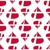 丹麦旗子无缝的样式 免版税库存照片
