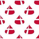 丹麦旗子无缝的样式 图库摄影