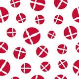 丹麦旗子无缝的样式 库存图片