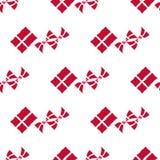 丹麦旗子无缝的样式 免版税库存图片
